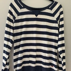 Hollister Long Sleeved Striped Shirt Size Large